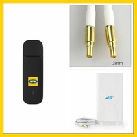 E3372 150Mbps 4G LTE Wifi Modem E3372h 153 + 4G Signal Amplifier Antenna with 2M cable double CRC9 connector