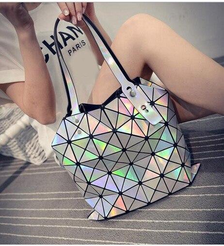 2017 Women S Bags Hologram Laser Geometric Handbags Multicolor Messenger Bao In Shoulder From Luggage On Aliexpress Alibaba