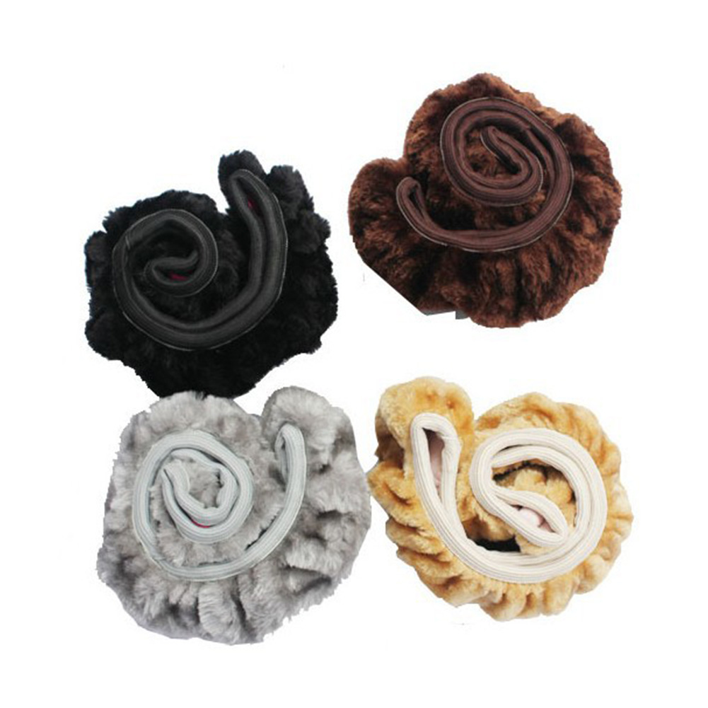 NEW HOT SALES Soft Elastic Plush Car Solid Winter Grips Car Accessory Steering Wheel Cover Case