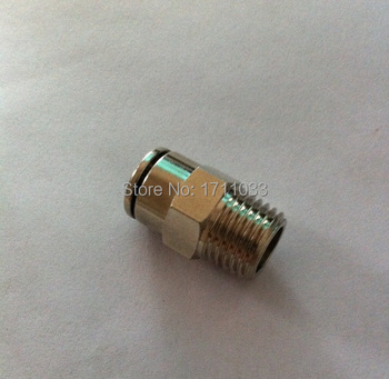 """tube 10mm-1/8"""" BSPT thread pneumatic brass male straight copper straight connector male tube fittings"""