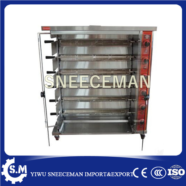 Industrial Glass Door Gas Stove With Grill And Rotary Oven For Sale