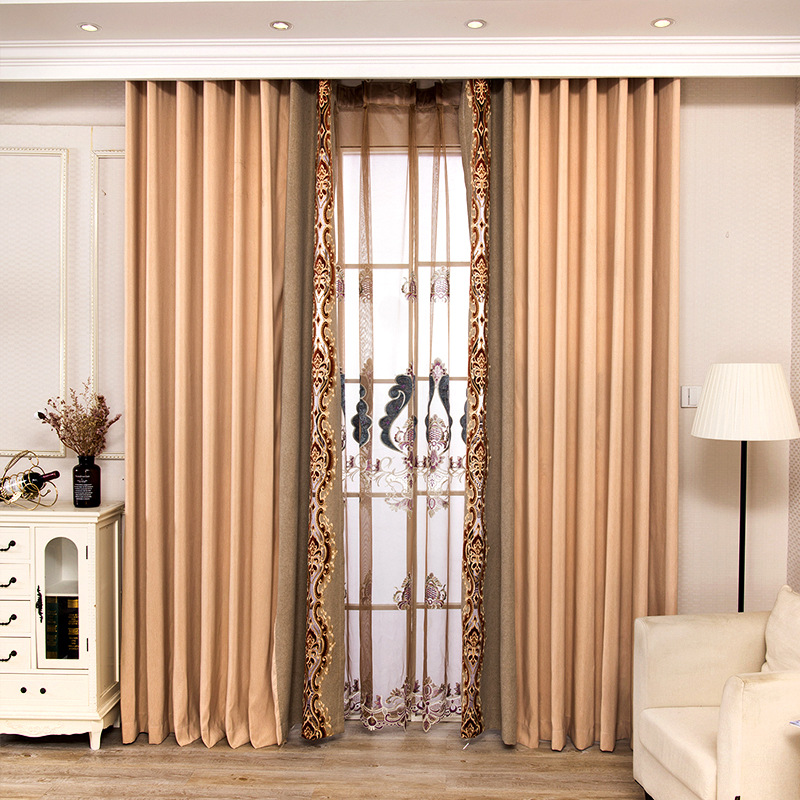 Scandinavian Luxury Embroidered Cotton and Hemp Curtains for Living Dining Room Bedroom.