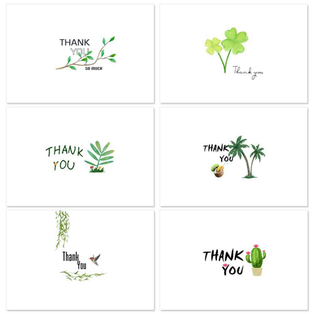 Thank you cards with envelope stickers business custom invitations notes blank inside greeting cards postcards gifts
