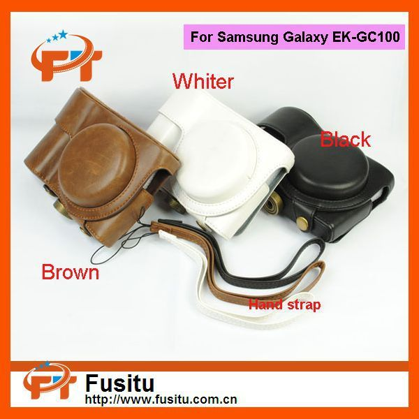 High Quality Leather case bag for Samsung Galaxy GC100 Camera EK-GC100 bag