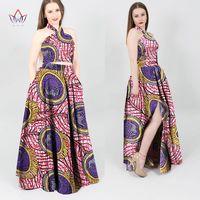 Африканский платье Дамская мода конструкции Дашики Базен Riche халаты Femmes 2 предмета Базен Riche платья долго dashiki Большие размеры wy699