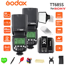 2x Godox TT685 TT685S 2.4G 1/8000s HSS TTL Camera Flash + X1T-S + 15*17 cm softbox for Sony DSLR Cameras A77II A7RII A7R A58 A97