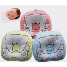 Newborn Baby Bear Pattern Pillow Infant Support Cushion Pad Prevent Flat Head Shaping Pillow Correct Sleeping Posture(China)