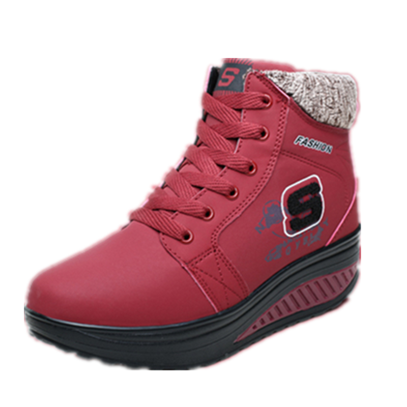 EISWELT 2018 New Snow Boot Winter Female Plus Velvet Swing Shoes Snow Platform Boot Women Thermal Cotton-padded Shoes Flat Ankle цена