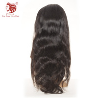 FYNHA Brazilian Virgin Hair Body Wave Full Lace Human hair Wigs With Baby Hair Wigs for women Natural Black Color Free Shipping