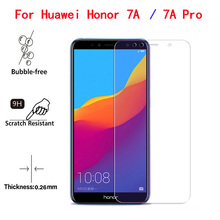 2Pcs Honor 7A Tempered Glass For Huawei Phone Screen Protector Toughened Protective Film Pro Prime