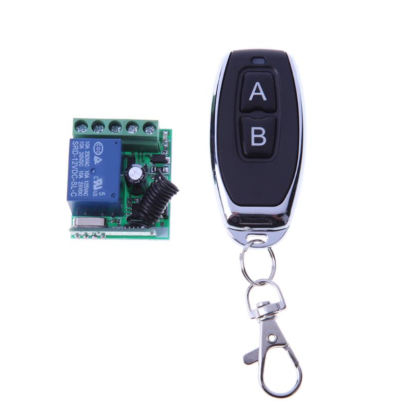 Wireless Remote Control DC12V 1 Channel Receiver Module 20-40M Symbol Transmitter Relay Remote Switch 433MHZ