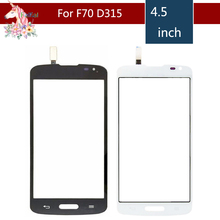 High Quality 4.5 For LG F70 D315 Touch Screen Digitizer Sensor Outer Glass Lens Panel Replacement white outer front touch screen digitizer glass panel replacement for lg optimus f70 d315 with tools