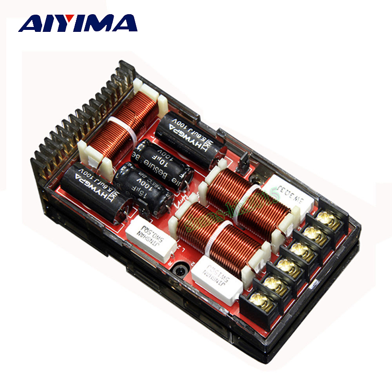 Aiyima 1PC 2 Way Car Audio Frequency Divider HIFI Two Way Audio Car Divider 180W For Speaker Modification 4-8Ohm