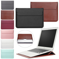 Eagwell Universal PU Leather Laptop Sleeve Bag Case For Macbook 11 13 15 Inch Notebook Folio