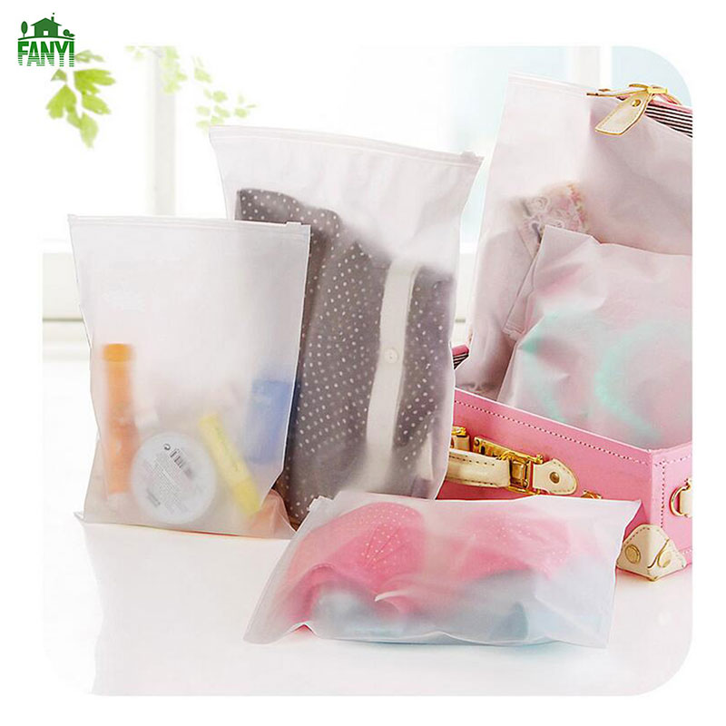 FANYI 5PCs Transparent Storage Bags Waterproof Wash Bag Creative Travelling Clothes Bags for free shipping