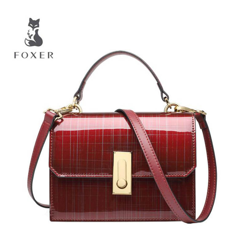 Patent leather handbag 2018 New Fashion Shaped Small Party Bag Ms. Shoulder Messenger Bag aliwilliam bag new patent leather