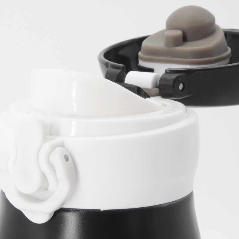 350ml de aço inoxidável thermoses thermocup branco mini mulher thermo caneca vácuo garrafa café copo chá dos desenhos animados garrafa térmica água