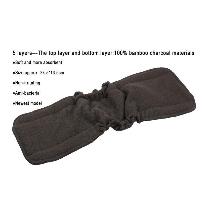 [Littles и Bloomz] Горячая распродажа! бамбуковые многоразовые вкладыши для тканевых подгузников уголь моющиеся вкладыши для подгузников, 5 слоев изменение вкладыши для крышка
