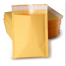Best Price 50 pcs/lot High Qulity Padded Envelopes Mailers Shipping Yellow Bags Universal 120*160 40mm Kraft Bubble Bag