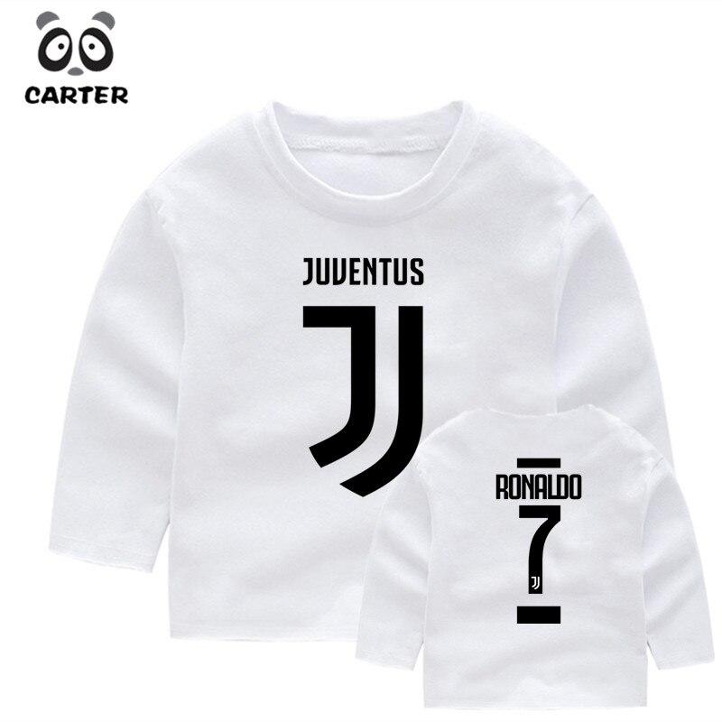 Kid's Cr7 Name Cristiano Ronaldo 7 Long Sleeve T Shirt Children's Autumn Boys Girl Kawaii Tees Toddler Long Sleeve Tops стоимость