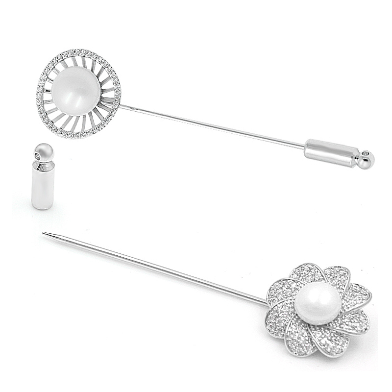 WEIMANJINGDIAN Crystal Flower Lapel Pin Brooch Pins Women