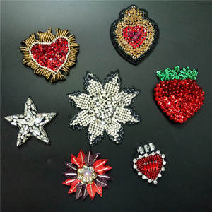 CALIDO 3D STAR Sew on sequin patch for clothing Applique f392aee584e5