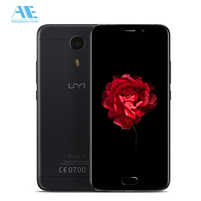 Original Umi Plus E MTK Helio P20 MT6757 8X Android 6.0 Fingerprint 6GB RAM 64GB ROM 13MP 5.5Inch 1920x1080P 4G FDD Mobile Phone
