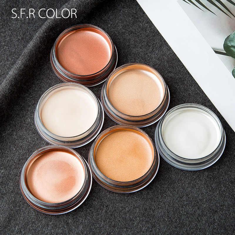 เดี่ยวสี Pigment Shimmer Highlighter ครีมสำหรับใบหน้ากระจ่างใส 3D Contour คอนซีลเลอร์ Bronzer Glitter ไฮไลท์แต่งหน้า