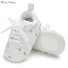 baby newborn shoes 2017 new soft white baby boys girls casual shoe wholesale lace up kids toddler sneakers star infant moccasins
