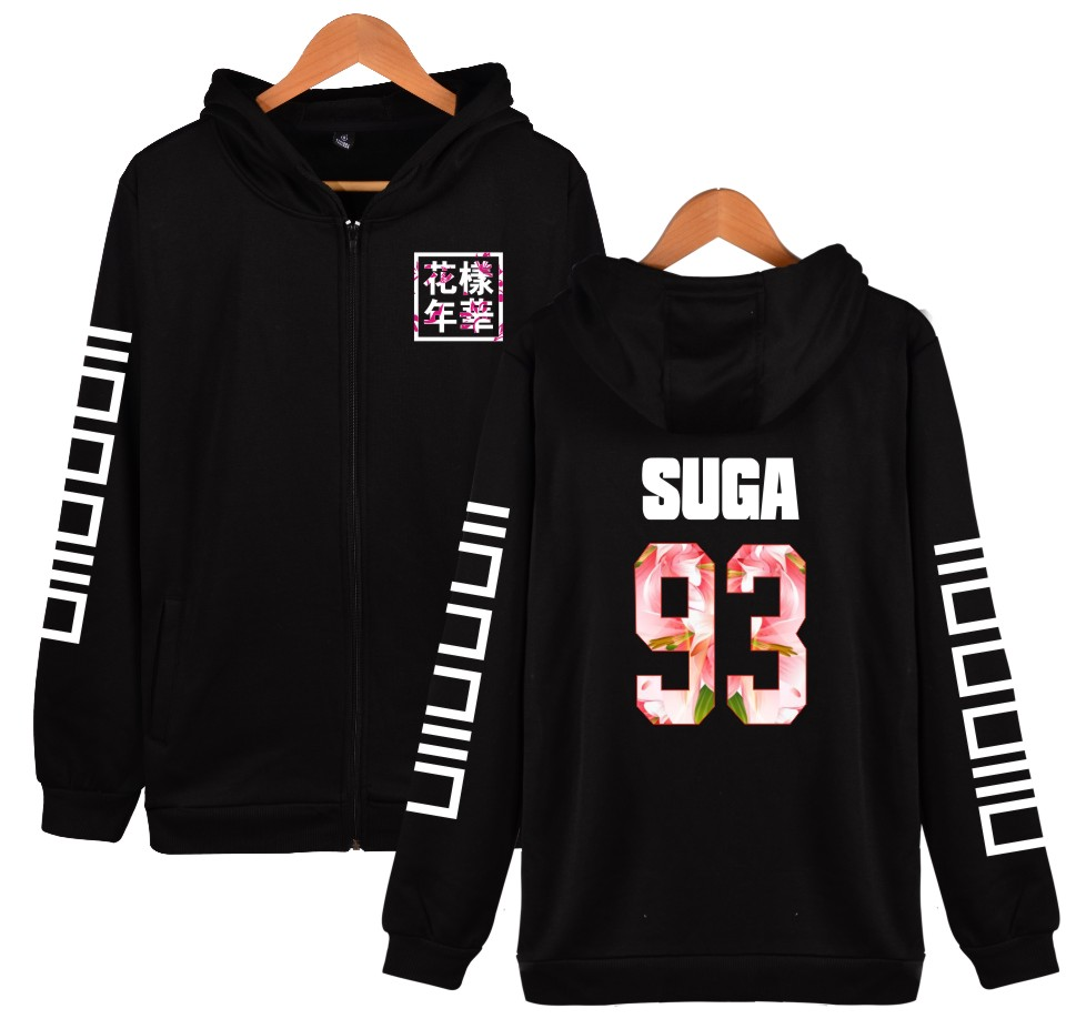 6e5d705aac122 2017 harajuku BTS kpop printed Hoodie Women men Hip Hop Zipper JIMIN ...