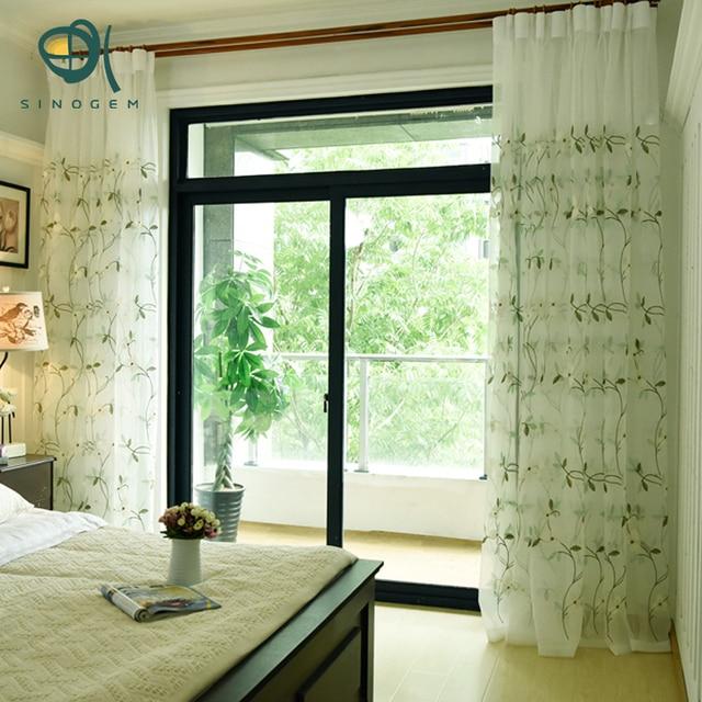 Sinogem moderne geborduurde vitrage wit transparante tule gordijnen woonkamer slaapkamer keuken - Gordijnen voor moderne woonkamer ...