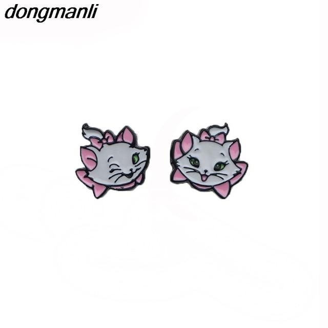 WS1172 Dongamnli New Marie Aristocats Kids earrings Maria Cat Enamel stud earrin
