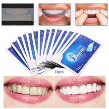 28 Pcs/14 Pair veneers teeth 3D Gel Teeth Whitening Strips Oral Hygiene Care Advanced  Dental Bleaching Tools