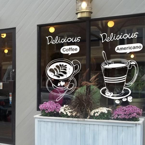 Coffee Shop Vinyl Wall Decal Bakery Coffee Tea Americano ...