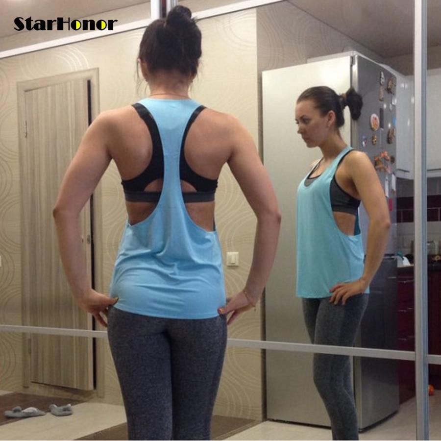 StarHonor נשים יוגה חולצות גופיות גופיות כושר גופני גופיות חולצה ללא שרוולים חולצות גופיות חולצות בגדים חולצה כושר Camiseta חולצת ריצה