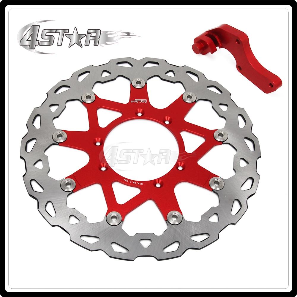 Красный Алюминиевый Плав 320ММ Тормозной диск + Кронштейн для CR CR125 CR250 CRF250R CRF250X CRF450R CRF450X КРФ теннисный корт мотоцикл