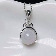 S925 Silver Jewelry Drop Shipping Natural Jade Beads Pendant Necklace Lucky Amulet Necklace Fine Jewelry For Woman Men Gift недорого