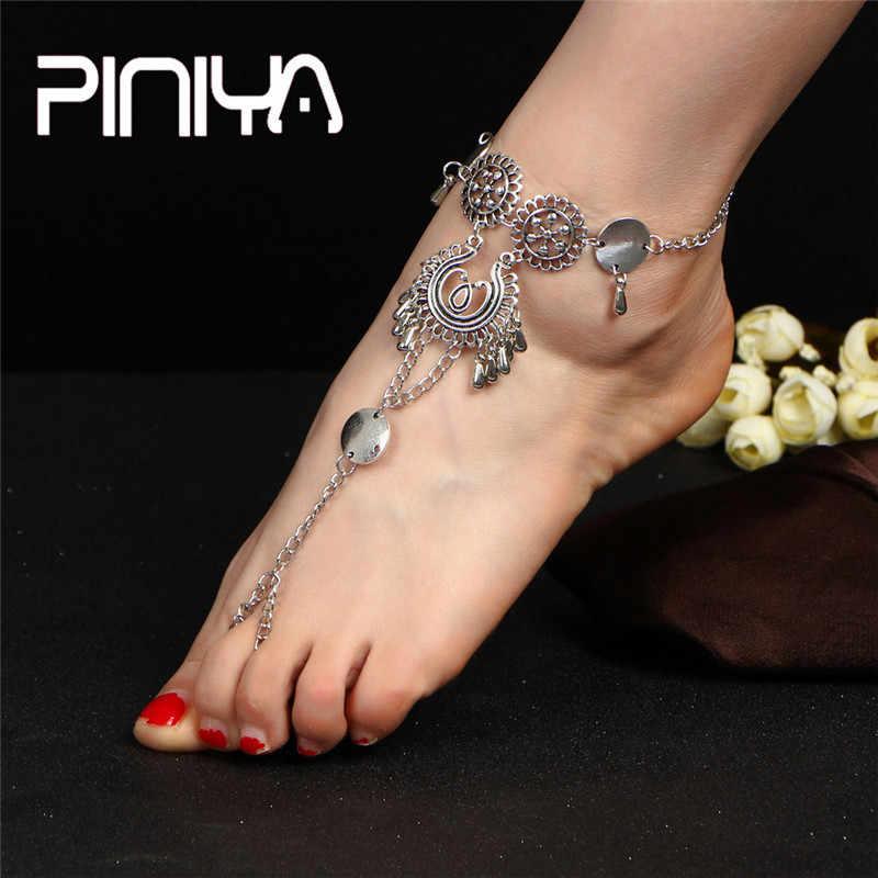 Модные популярные браслеты для ног для женщин аксессуары для ног летние босиком на пляже браслет под сандалии женские ботильоны