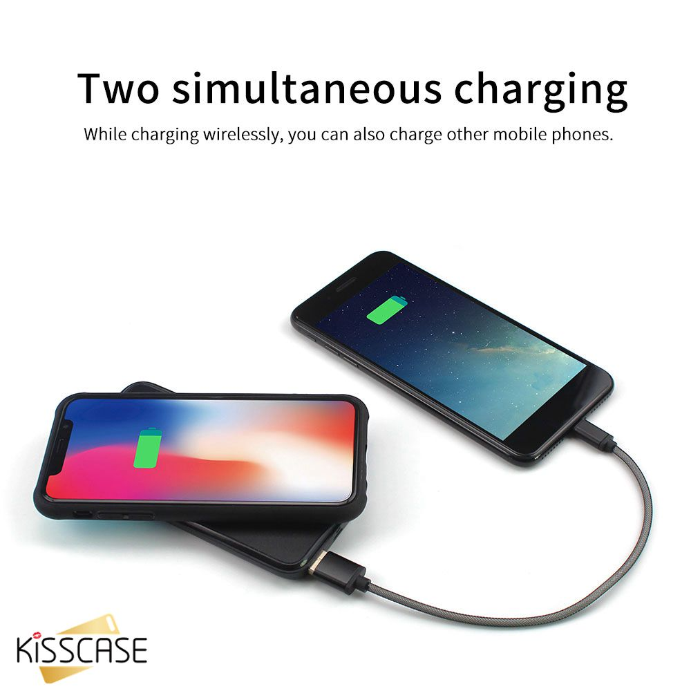 KISSCASE 5000m Ah Wireless Battery Case for For Samsung S10 S10 Plus S10e S8 S8 Plus Charge Cover For Samsung S9 S9 Plus Note 9