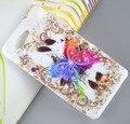 Para sony z3 compact púrpura cebra flor de mariposa búhos soft tpu gel cubierta de la caja del teléfono móvil para sony xperia z3 compact/z3 mini