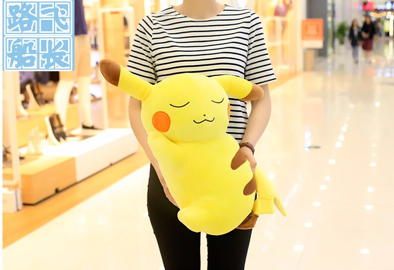 1pc 50cm funny anime Pikachu cute soft plush doll hold pillow cushion novelty creative stuffed toy gift for kids 1pcs 30cm despicable me 2 stuffed plush toy doll film anime minions pea banana style cotton hold pillow baby kids gift