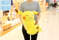 1pc 50cm funny anime Pikachu cute soft plush doll hold pillow cushion novelty creative stuffed toy gift for kids