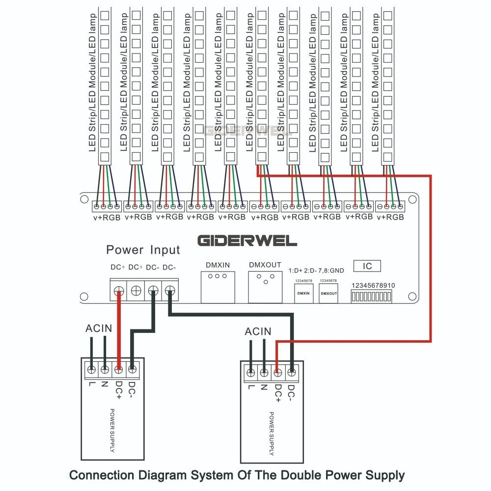 30-канален DMX декодер с XLR задействащ LED - Аксесоари за осветление - Снимка 6