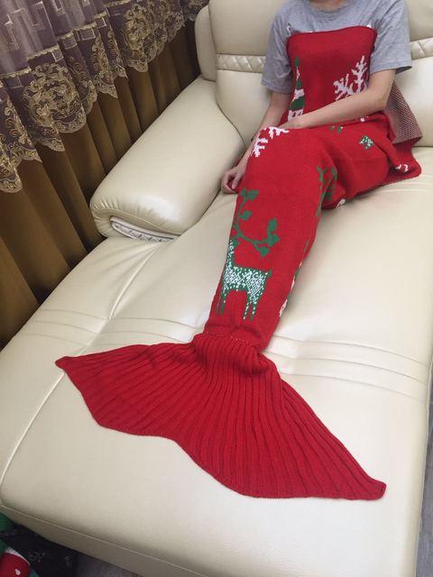 2017 weihnachten Weihnachtsgeschenk Meerjungfrau Decke Muster ...