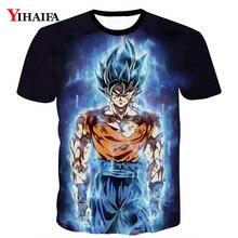 купить 3D T shirt Men Dragon Ball Z Printed Galaxy Super Saiyan Tee Shirts Man Cartoon Graphic Tee Short Sleeve Tops онлайн