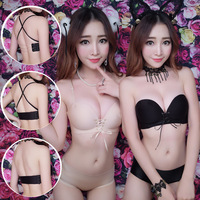 Summer No Shoulder Strap Underwear Small Chest Gather Type One Piece Without Steel Ring Trace Of