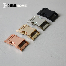 10pcs Plated metal buckle side release clasp snap hook 1 Inch(25mm) belt strap for bag dog pet collar DIY accessories 4 colors