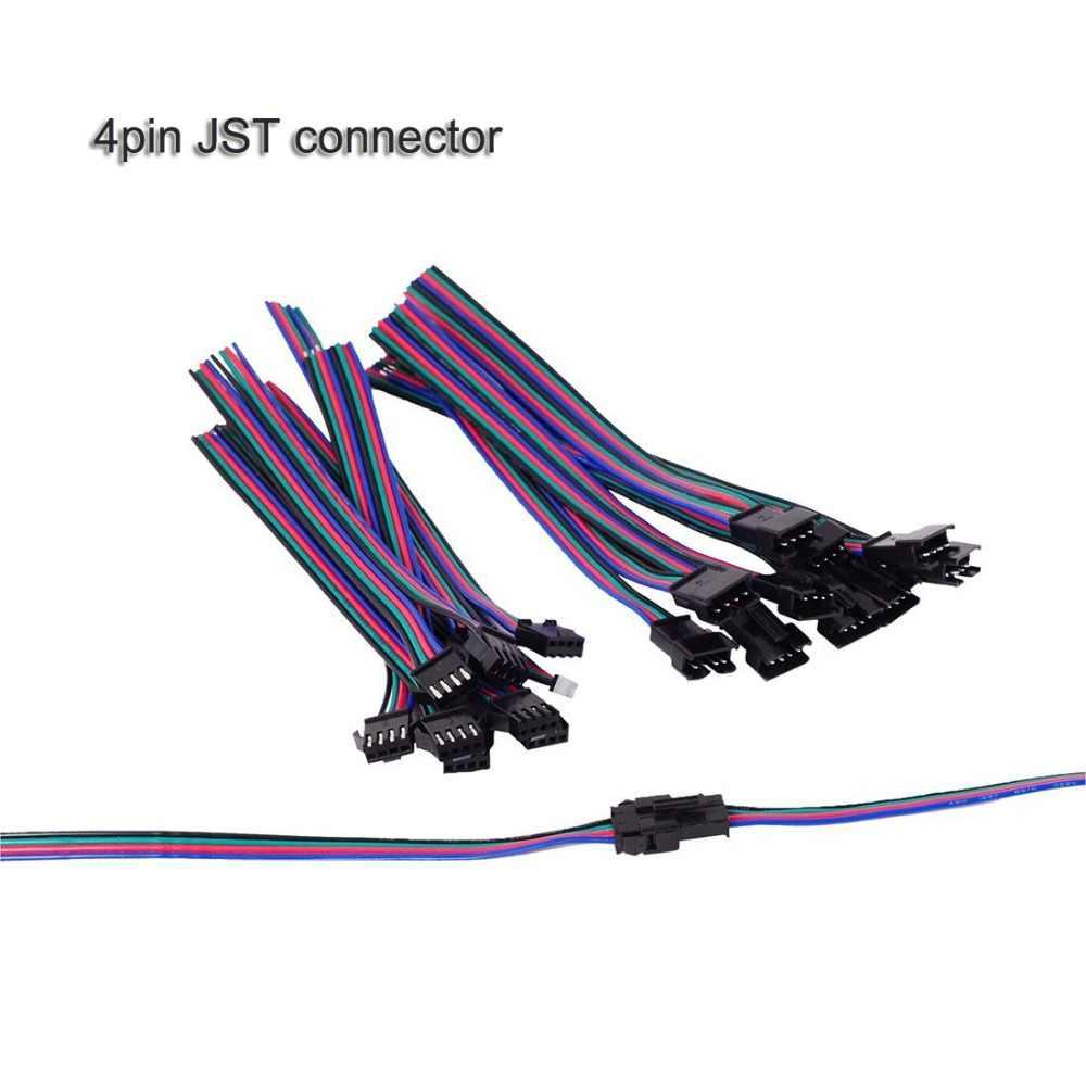 Led drutu złącze mężczyzna kobieta JST SM 2 3 4 5 wtyk pinowy przewód przyłączeniowy kabel do WS2812B WS2812 5050 RGB dioda led rgbw taśmy światła
