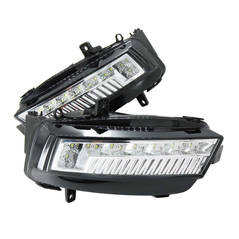 2Pcs For VW Golf 7 Golf MK7 2013 2014 2015 2016 2017 Car-styling LED Front DRL Daytime Running Light Fog Light Fog Lamp 2011 2013 vw golf6 daytime light free ship led vw golf6 fog light 2ps set vw golf 6