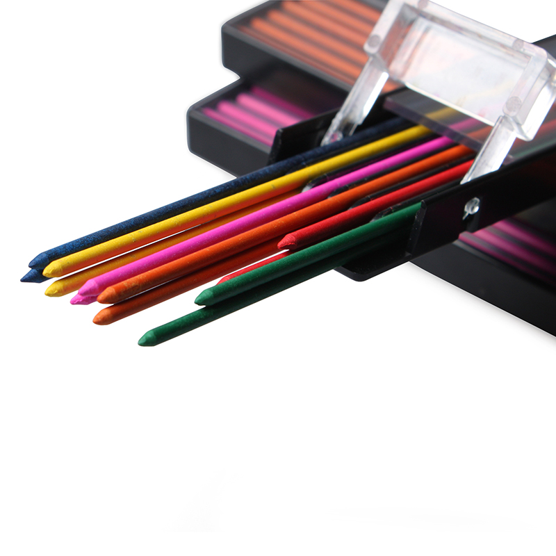 Redcircle 6 Colors Mechanical Pencil Lead Refills -2.0 mm 2 packs/lot(24pcs refills) Orange/Pink/Red/Blue/Green/Yellow assorted colors tagboard 18 x 12 blue canary green orange pink 100 pack